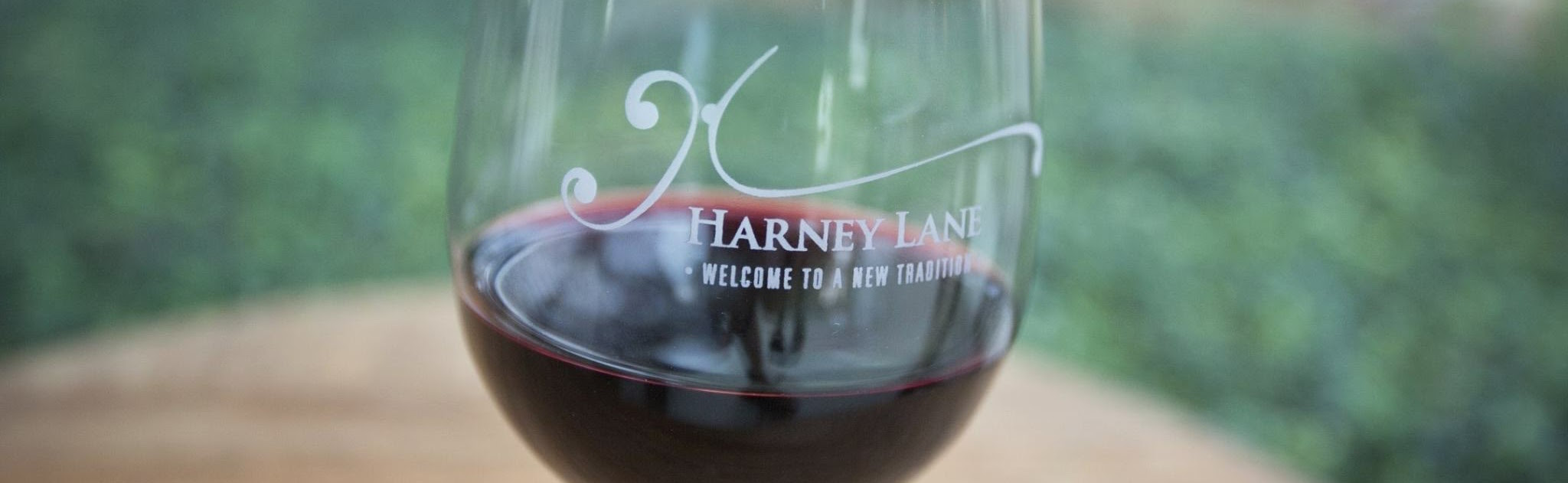Etched Wine Glass, Harney Lane Winery