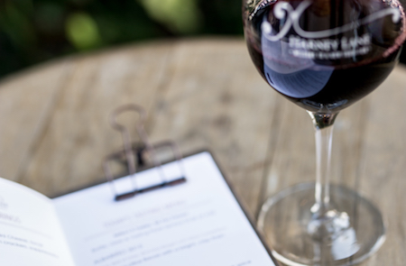 Tasting Menu, Harney Lane Winery