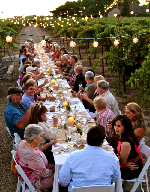 Harney Lane Winery Dinner with the Family